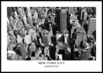 plakat manhattan nowy jork usa