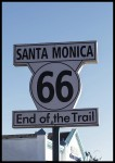 plakat end of the trail 66 kalifornia usa