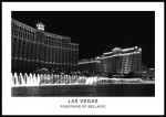 plakat fountains of bellagio las vegas nevada usa