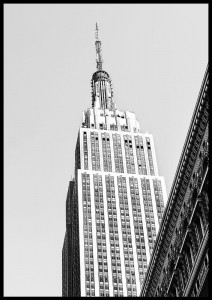 plakat empire state nowy jork usa