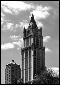 plakat woolworth building nowy jork usa