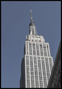 plakat empire state building nowy jork usa